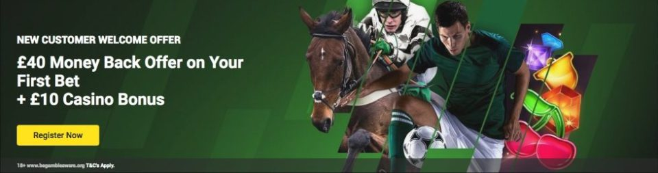 Betting pages with live streaming