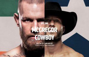 McGregor vs Cerrone Streaming Free UFC 246 Live Stream & Channels!