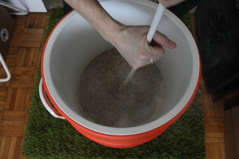 Stirring to avoid clumps