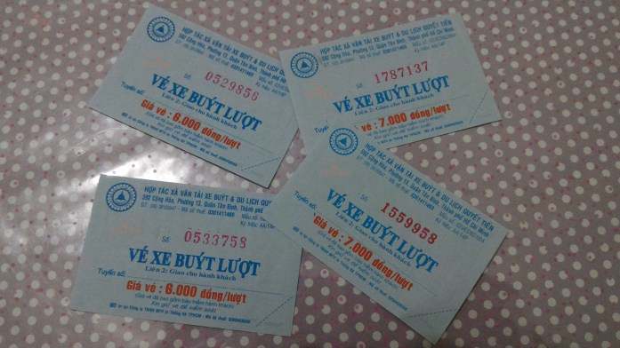 Local bus tickets to Chu Chi Tunnels