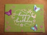Psykedeelinen Happy Birthday