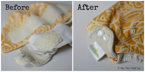 Convert Velcro Diapers to Snaps Tutorial