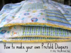 How to make your own Prefold Diapers