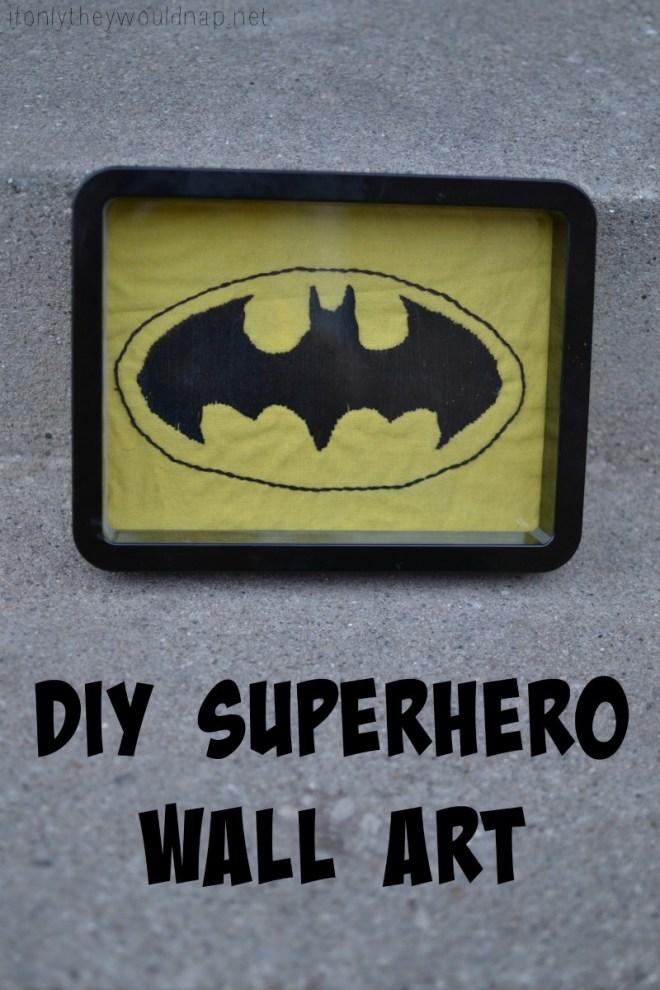 DIY Superhero Wall Art