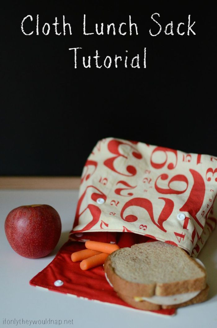 Cloth Lunch Sack Tutorial