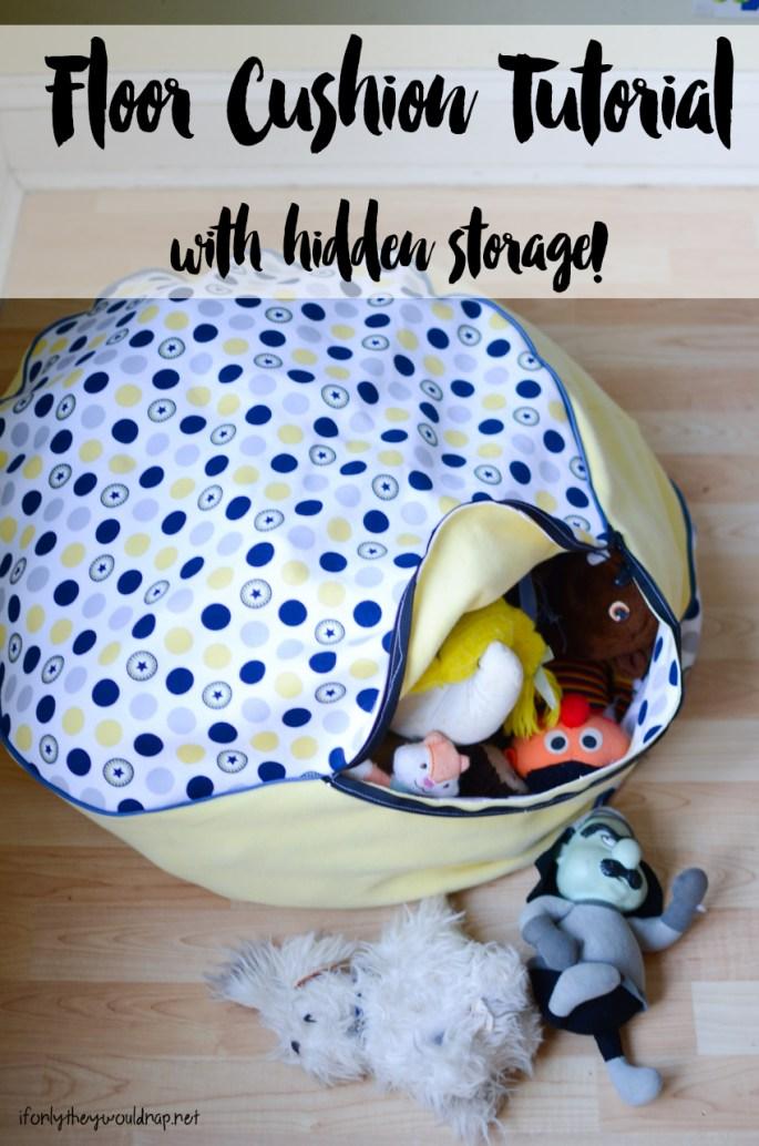 floor cushion tutorial with hidden storage