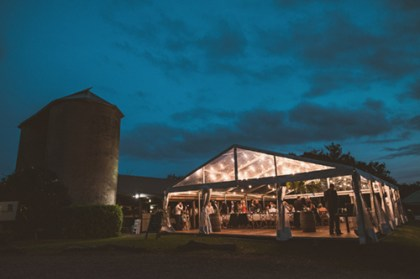 The restaurant at Silos Estate can be extended with a marquee. Photo Copyright Cloudface Photography.