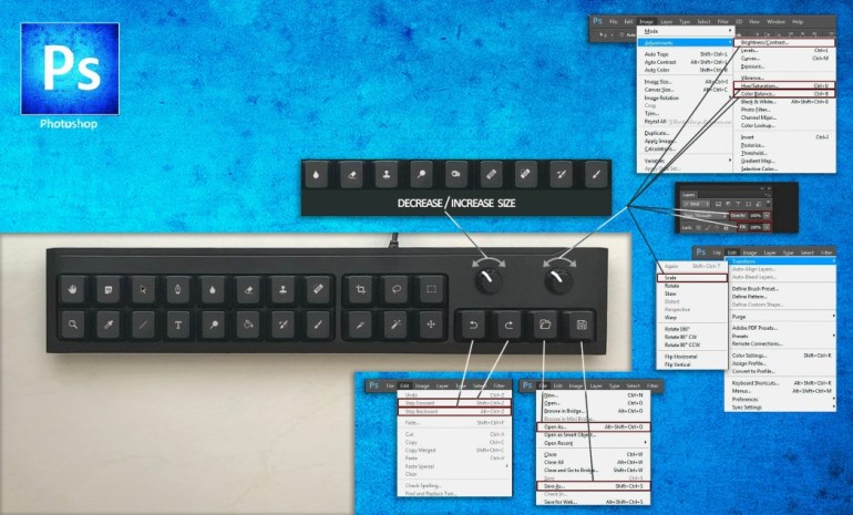 Photoshop keyboard