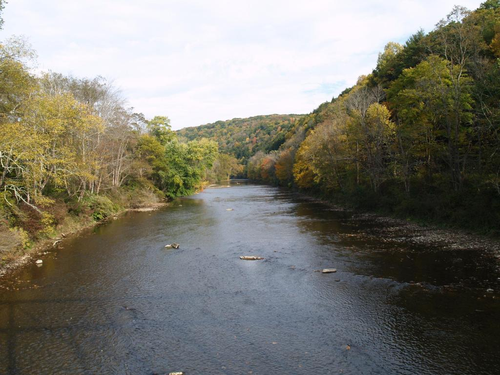 Oil Creek upstream of Boughton Bridge