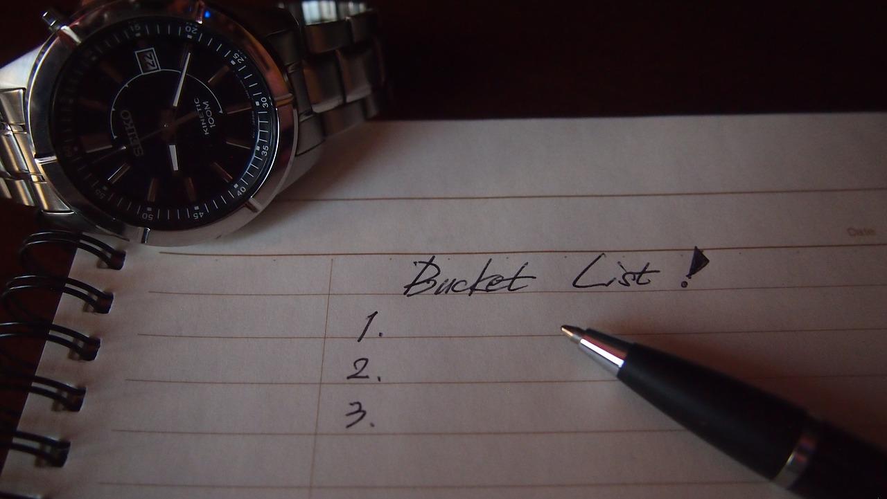 The bucket list: wat staat bovenaan jouw lijst?