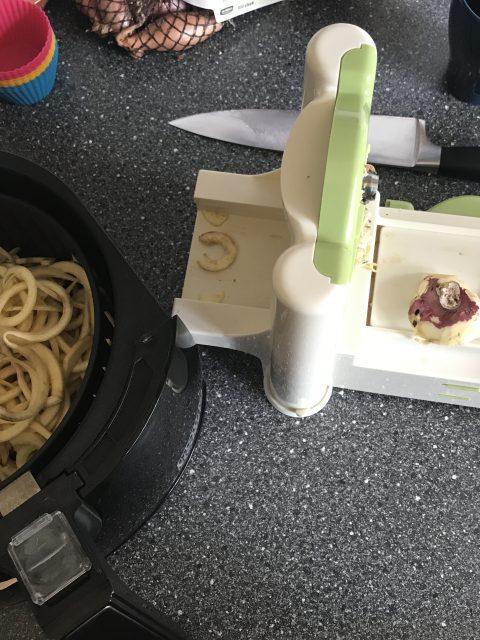Spiralized zoete aardappel