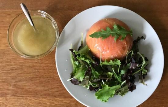 Zalmtaartjes met avocado: zonder bakken, koken of stomen