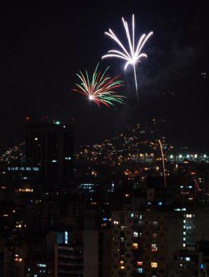 La navidad los caraqueños la celebraron lanzando fuegos, el 25 de diciembre de 2007, Distrito Capital, Venezuela. Foto: Calixto N. Llanes/Juventud Rebelde (CUBA)