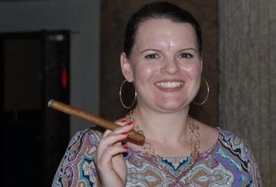 Las mujeres también prefieren los habanos cubanos, el 15 de Noviembre de 2011, La Habana, Cuba. Foto: Calixto N. Llanes (CUBA)