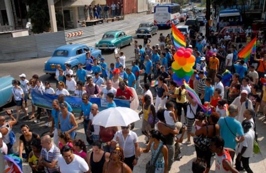 Masivo desfile multicolorde homosexual en La Habana como parte de la Quinta Jornada Cubana contra la Homofobia. Sábado 12 de mayo de 2012, La Habana. FOTO: Calixto N. Llanes/Juventud Rebelde (CUBA)