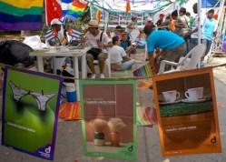 Promotores de salud repartieron afiches, almanaques y condones en el Pabellon Cuba durante la Quinta Jornada Cubana contra la Homofobia. Sabado 12 de mayo de 2012, La Habana. FOTO: Calixto N. Llanes/Juventud Rebelde (CUBA)