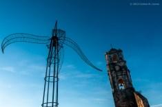 Escultura y torre de la Iglesia de Santa Ana en Trinidad. FOTO de Calixto N. Llanes (CUBA)