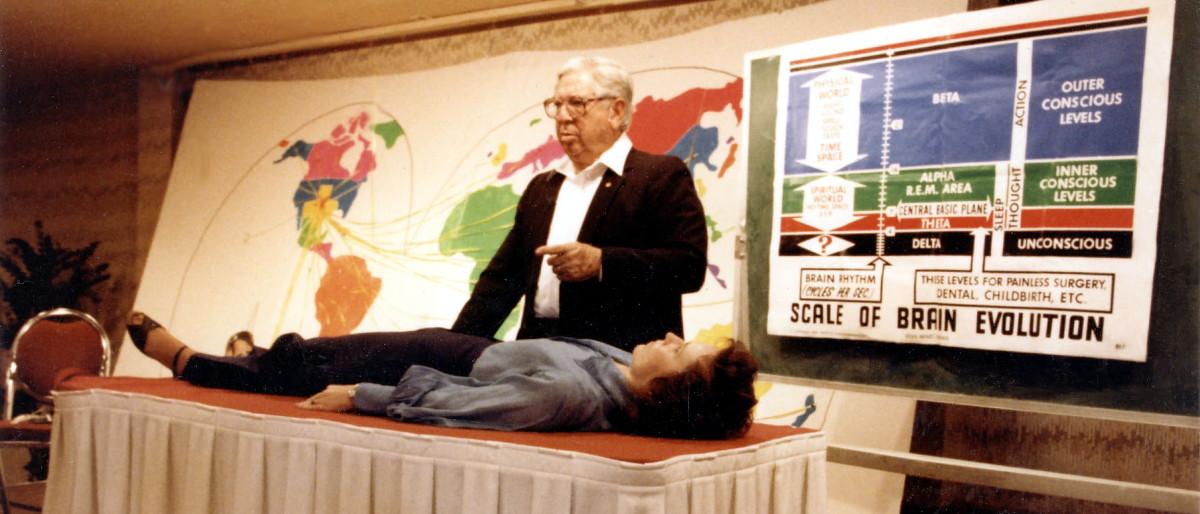 Jose Silva demonstrates holistic faith healing techniques