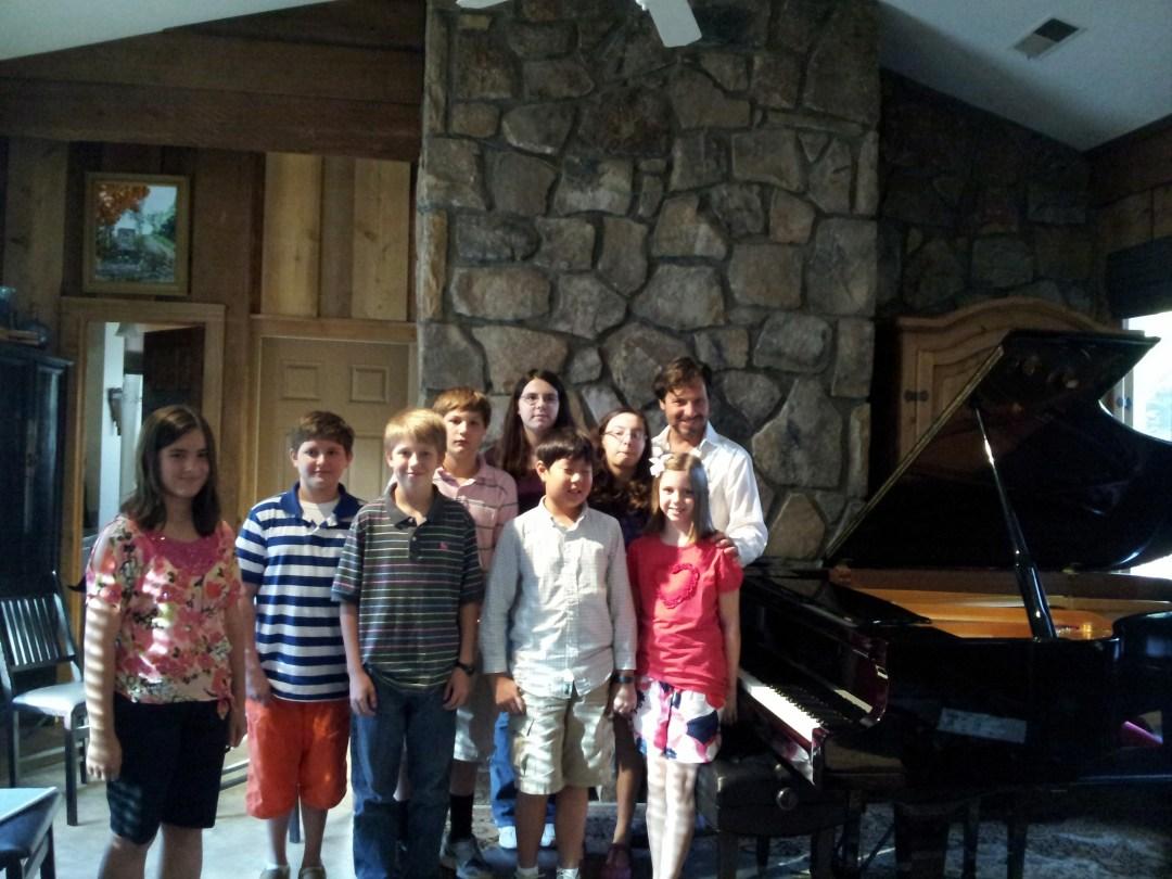 Students at Silva Piano Studios