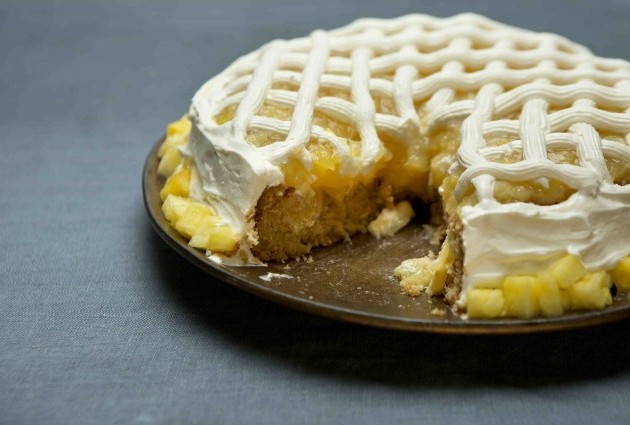 Penny's Gluten-Free, Dairy-Free Pineapple Cake with Marshmallow Frosting