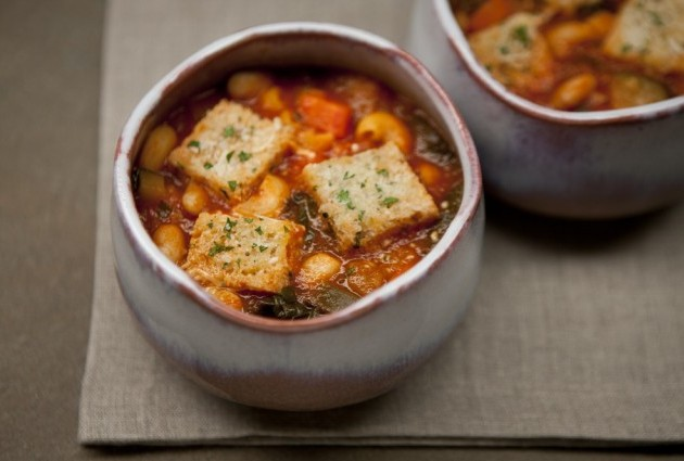 Gluten-Free, Dairy-Free Minestrone Chard Soup with Garlic ...