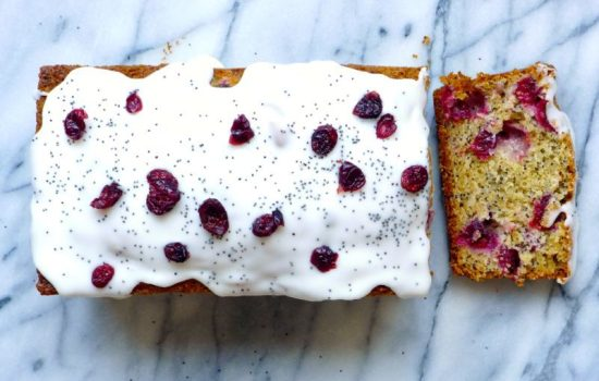 Cranberry–Lemon Poppy Seed Loaf Cake