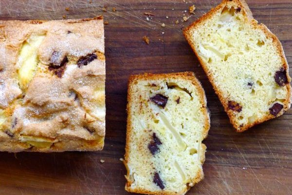 Apple-Almond Chocolate Chunk Loaf Cake