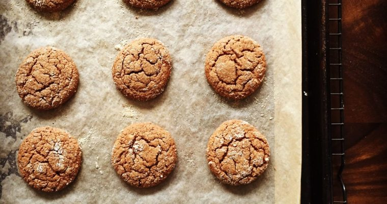Paleo Gluten-Free Double Ginger Crinkle Cookies