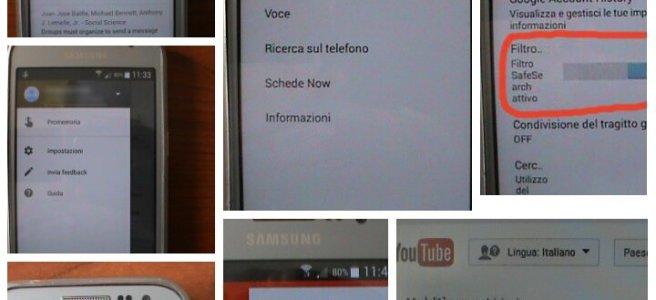 Google filtri genitori