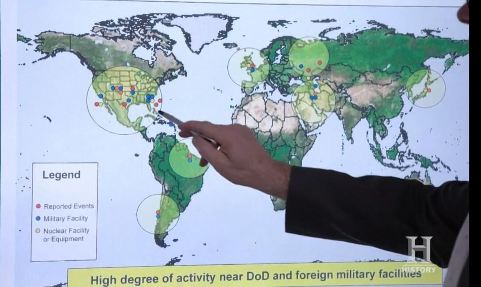 AATIP/Pentagon UFO Hotspot Map – Silva Record