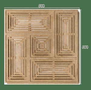 Dimensiones de Panel acústico de zumbador