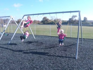 Playground swings at Silveira school