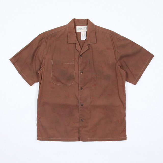 HESTRADA Gee-Wiz SHORTSLEEVE PATTERN SHIRTS – PRODUCT DYING Brown Dyed