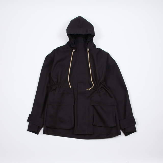 CAMIEL FORTGENS Raincoat Black Mackintosh Black