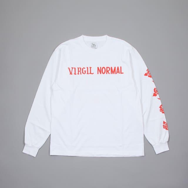 VIRGIL NORMAL ROSES LS T WHITE [VN087]