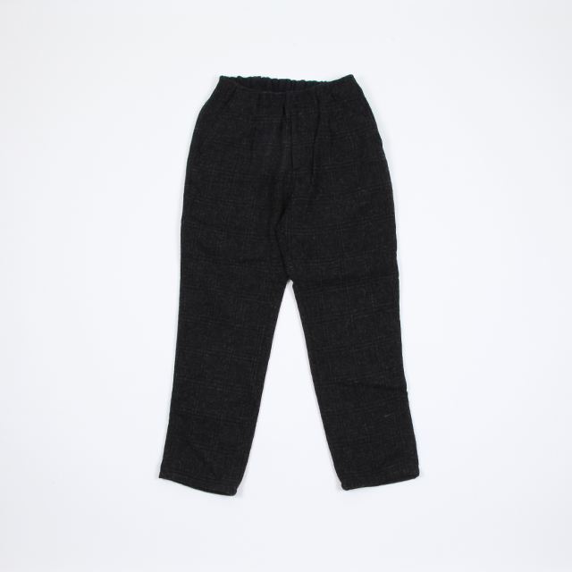 nonnative MANAGER EASY PANTS RELAX FIT WOOL GLEN PLAID CHARCOAL [NN-P3433]