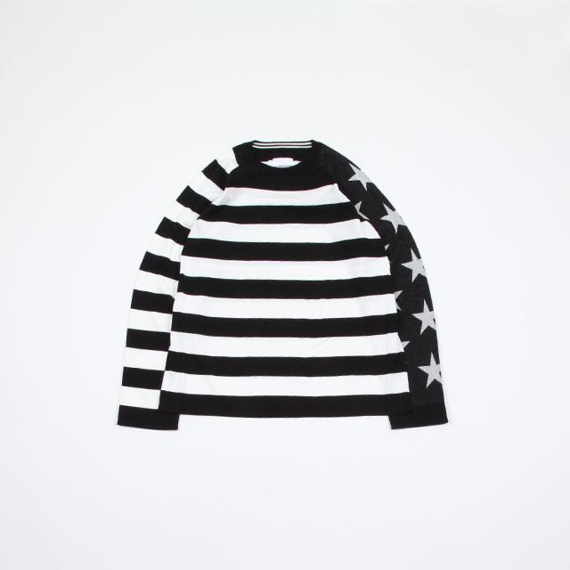 TAKAHIROMIYASHITATheSoloist. star&stripes sweater. [sk.0001SS19]