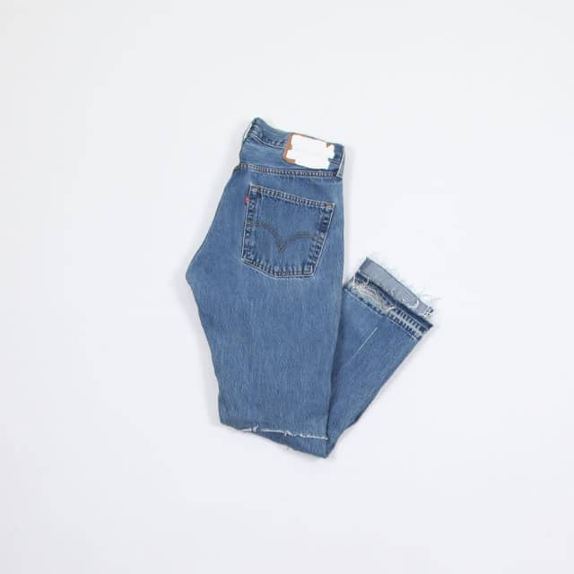 OLD PARK BACK FLARE JEANS BLUE size:M type:E [OP-311]