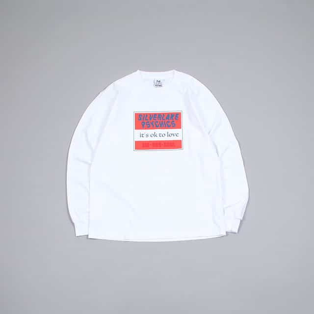 VIRGIL NORMAL SCREEN PRINT TEE – OK TO LOVE WHITE [VN099]