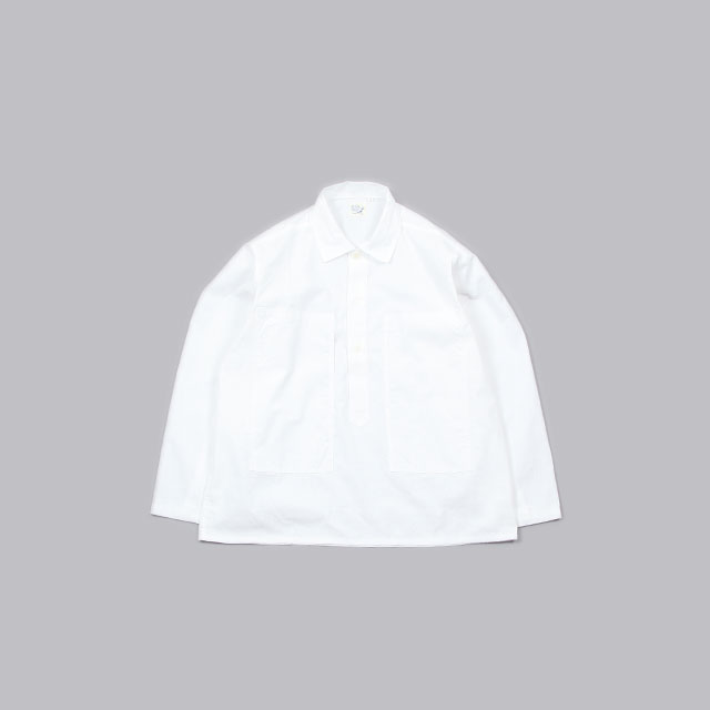 orSlow PW PULLOVER SHIRT JKT White [03-8041]