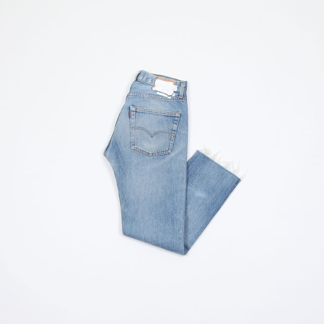OLD PARK SLIT JEANS Blue [op-225]