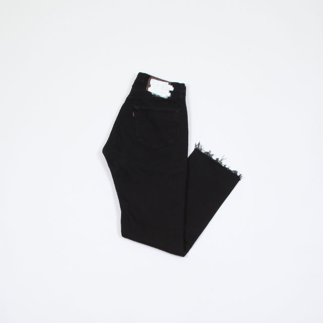 OLD PARK SLIT JEANS Black [op-225]