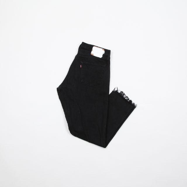 OLD PARK GUSSET JEANS BLACK size:L [OP-310]