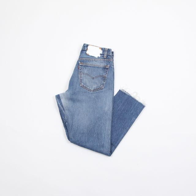 OLD PARK GUSSET JEANS BLUE size:S [OP-310]