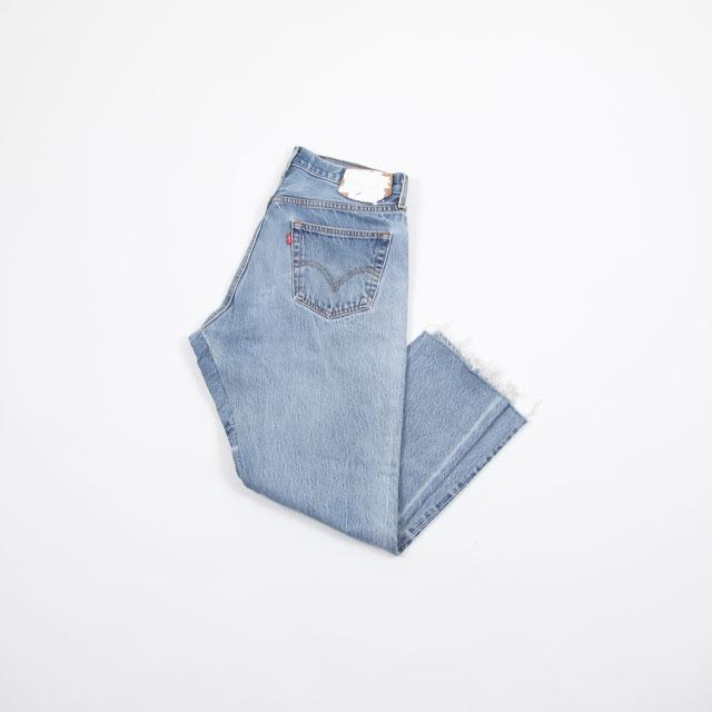 OLD PARK GUSSET JEANS BLUE size:L [OP-310]