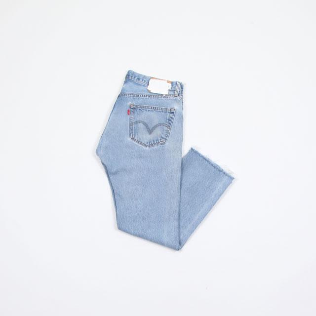 OLD PARK SLIT JEANS #Blue size:L [op-225]