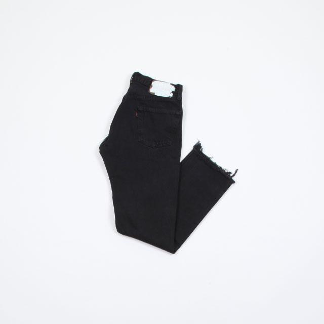 OLD PARK SLIT JEANS #Black size:S [op-225]