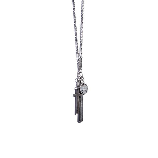 werkstatt münchen Necklace Cross+Peace [M3862]