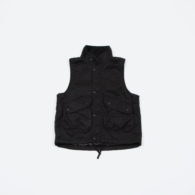 Engineered Garments Field Vest – Flight Satin Nylon Black [FG195]