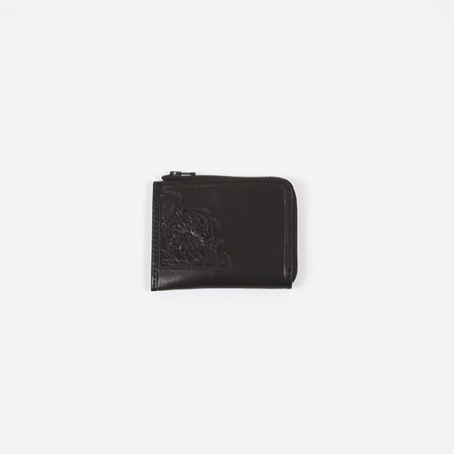 Needles Carving Coin Case Black [FK037]
